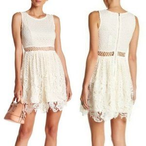 Romeo + Juliet Couture Ivory Lace Overlay Dress